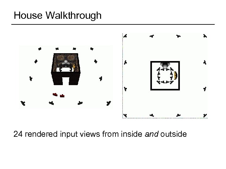 House Walkthrough 24 rendered input views from inside and outside
