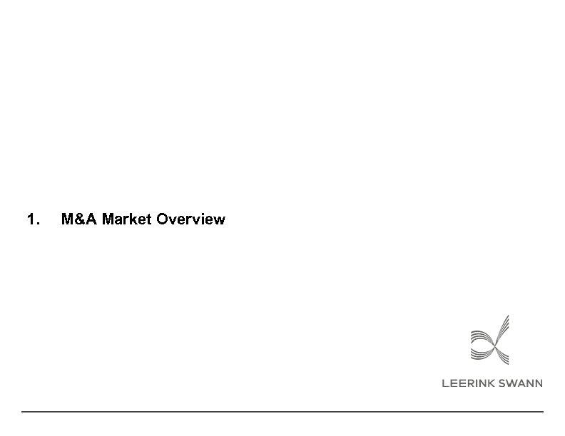 1. M&A Market Overview