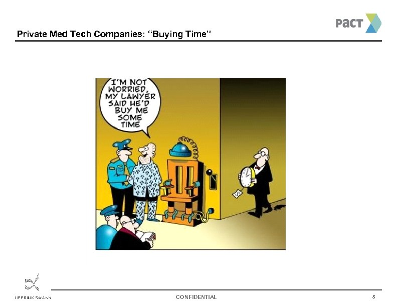 "Private Med Tech Companies: ""Buying Time"" CONFIDENTIAL 5"