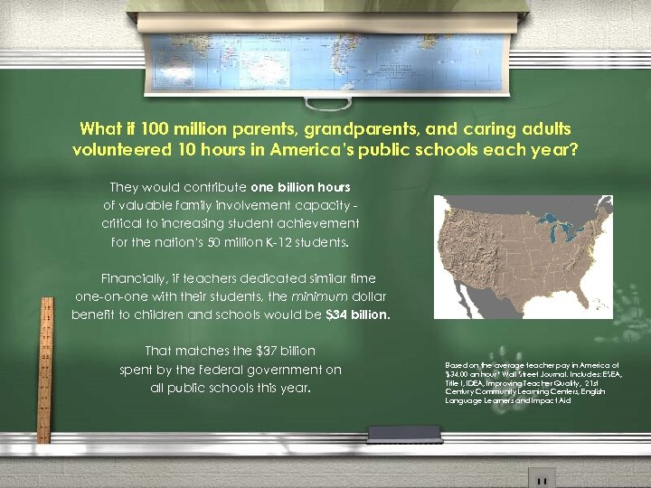 What if 100 million parents, grandparents, and caring adults volunteered 10 hours in America's