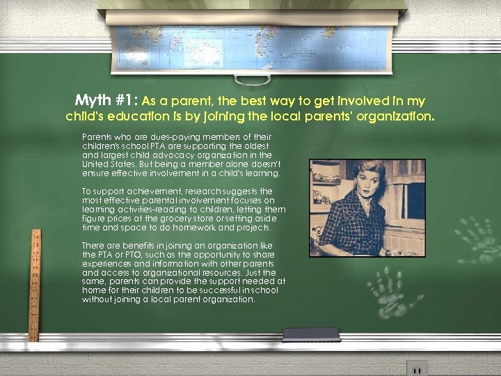 Myth #1: As a parent, the best way to get involved in my child's