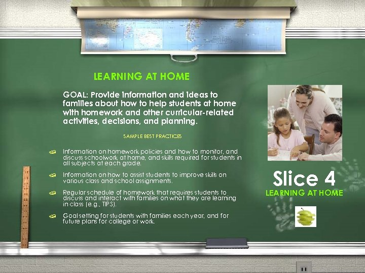 LEARNING AT HOME GOAL: Provide information and ideas to families about how to help
