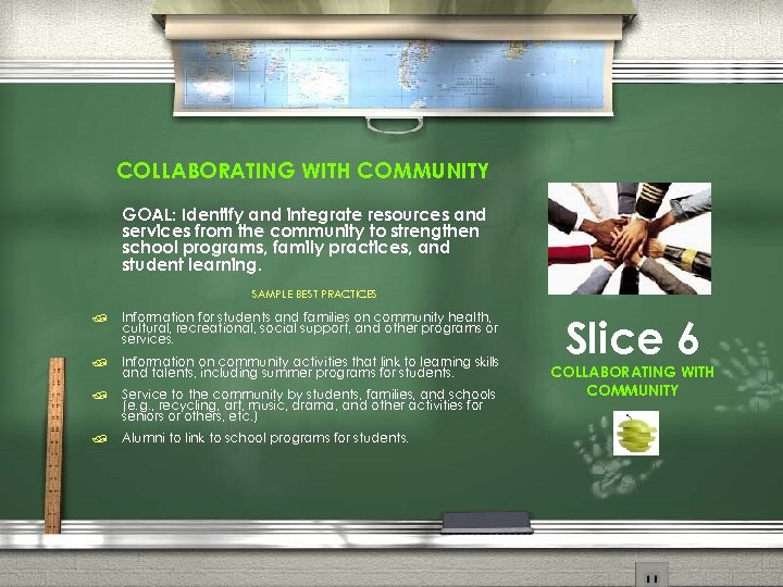 COLLABORATING WITH COMMUNITY GOAL: Identify and integrate resources and services from the community to