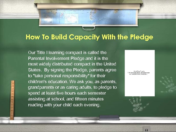 How To Build Capacity With the Pledge Our Title I learning compact is called