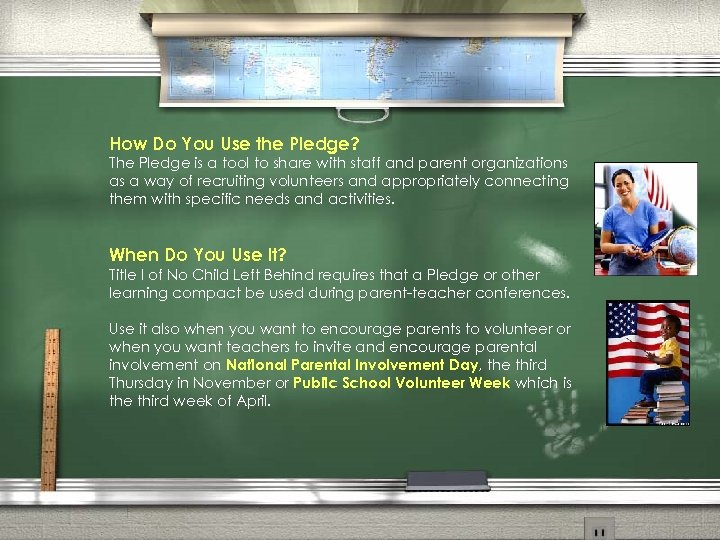 How Do You Use the Pledge? The Pledge is a tool to share with