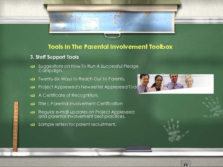 Tools In The Parental Involvement Toolbox 3. Staff Support Tools / Suggestions on How
