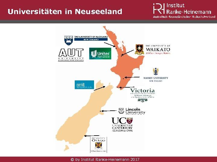 Universitäten in Neuseeland © by Institut Ranke-Heinemann 2017