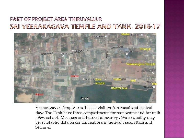 Market Mosque Veerarargava Temple School Siva temple 1 Ladies Milk Men TEMPLE Tank School