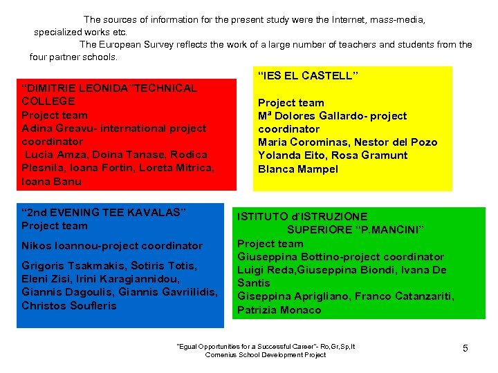 The sources of information for the present study were the Internet, mass-media, specialized works
