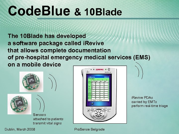 Code. Blue & 10 Blade The 10 Blade has developed a software package called
