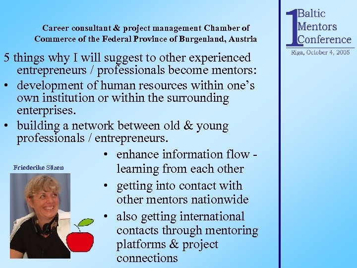 Career consultant & project management Chamber of Commerce of the Federal Province of Burgenland,