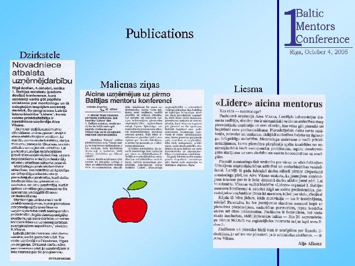 Publications Dzirkstele Malienas ziņas Liesma