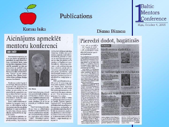 Publications Kursas laiks Dienas Bizness