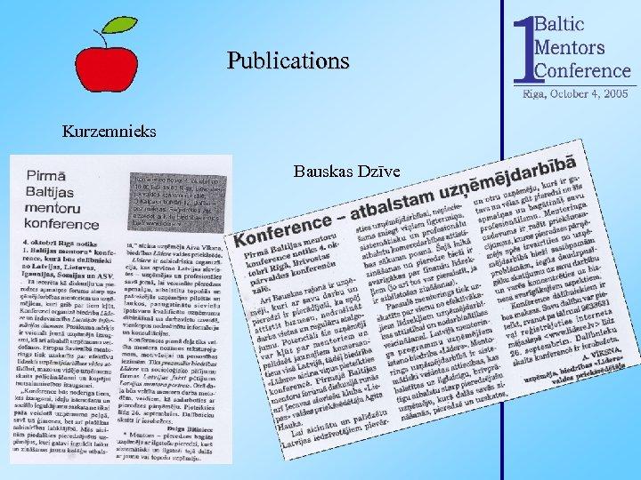 Publications Kurzemnieks Bauskas Dzīve