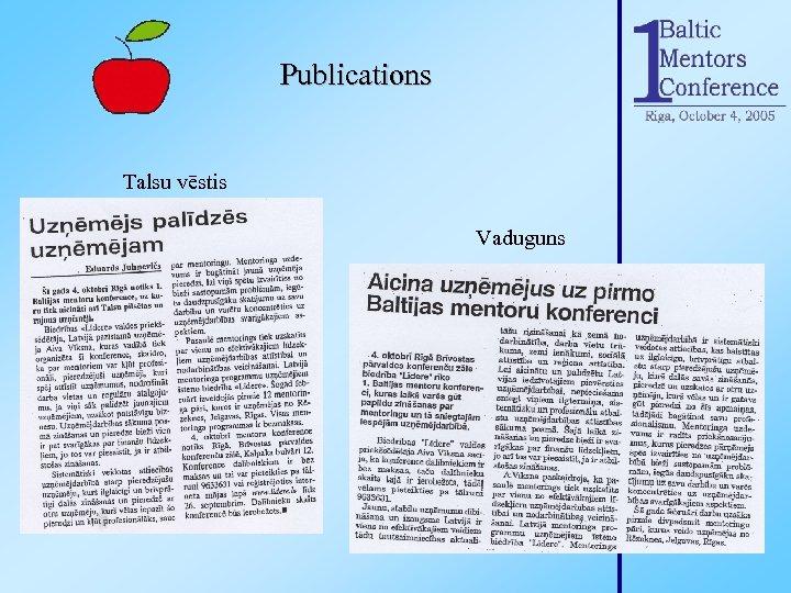 Publications Talsu vēstis Vaduguns