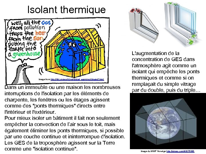 Isolant thermique Image from http: //tiki. oneworld. net/global_warming/climate 3. html Dans un immeuble ou