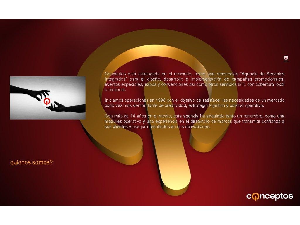 """Inicio Conceptos está catalogada en el mercado, como una reconocida """"Agencia de Servicios Integrados"""""""