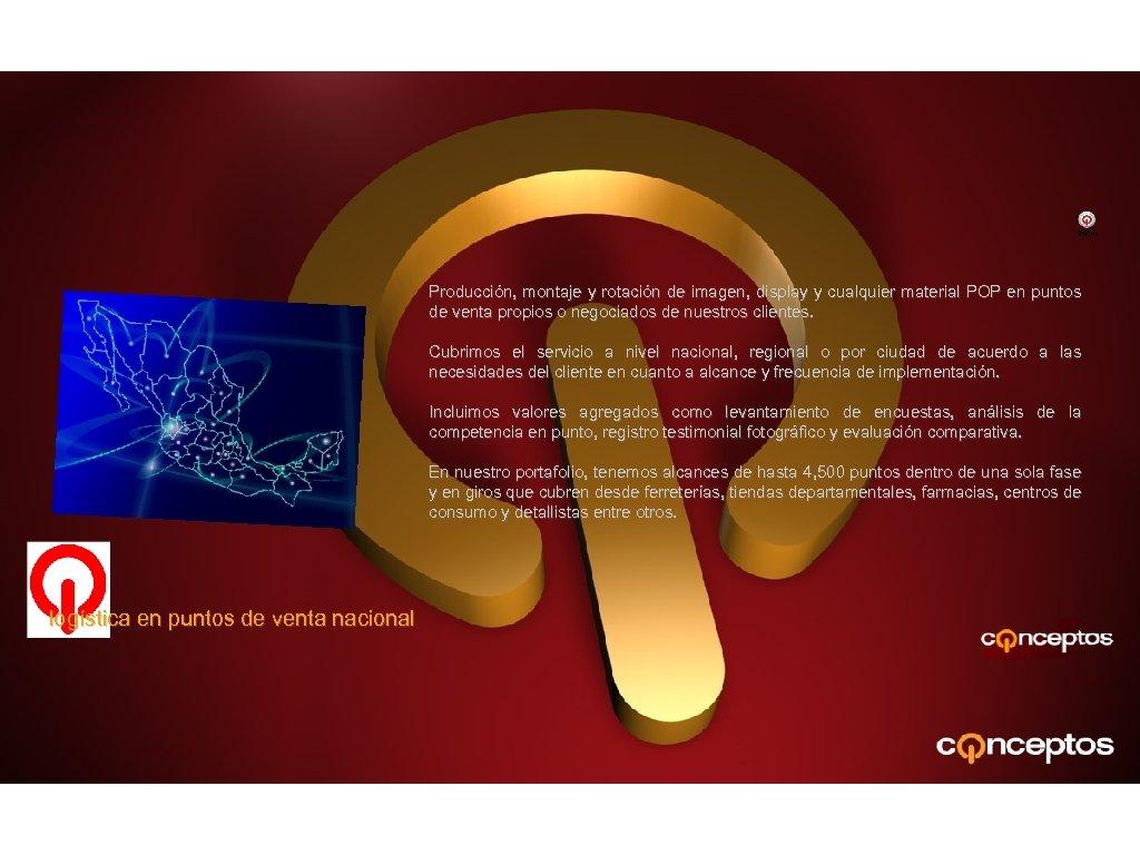 Inicio Producción, montaje y rotación de imagen, display y cualquier material POP en puntos