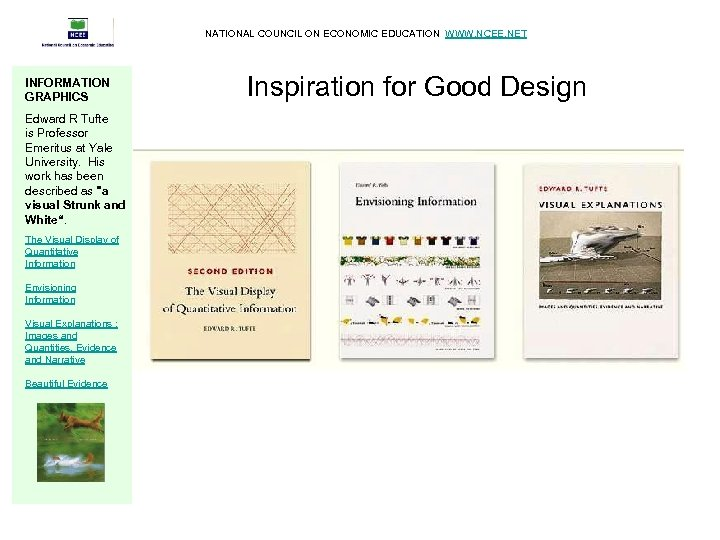 NATIONAL COUNCIL ON ECONOMIC EDUCATION WWW. NCEE. NET INFORMATION GRAPHICS Edward R Tufte is