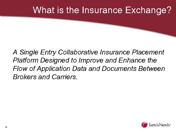 What is the Insurance Exchange? A Single Entry Collaborative Insurance Placement Platform Designed to