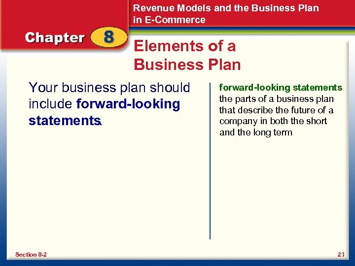 Revenue Models and the Business Plan in E-Commerce Elements of a Business Plan Your