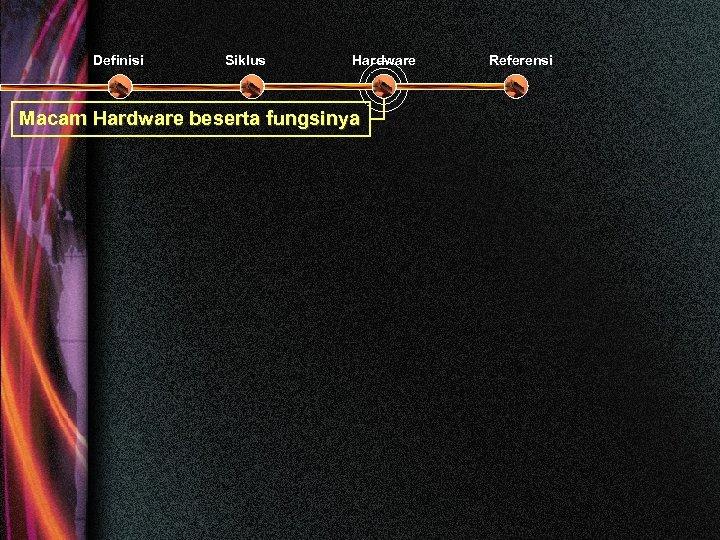 Definisi Siklus Hardware Macam Hardware beserta fungsinya Referensi