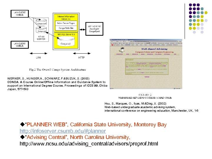 WERNER, S. , HUNGER, A. , SCHWARZ, F. &BUZUK, S. (2003) CONGA: A Course