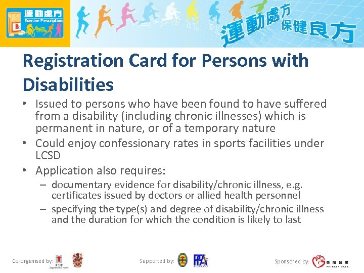 Registration Card for Persons with Disabilities • Issued to persons who have been found