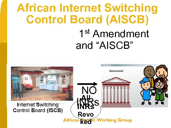 "African Internet Switching Control Board (AISCB) st 1 Amendment and ""AISCB"" == Internet Switching"