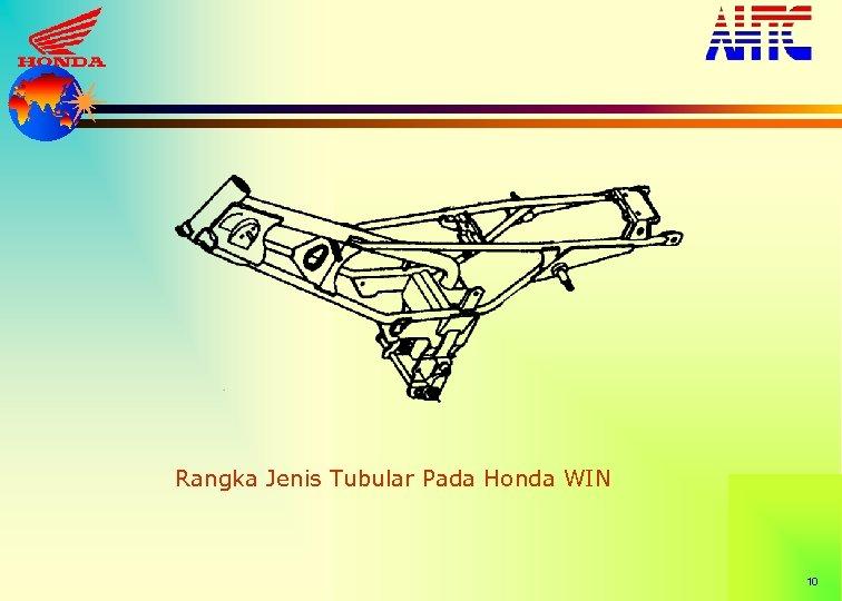 Rangka Jenis Tubular Pada Honda WIN 10