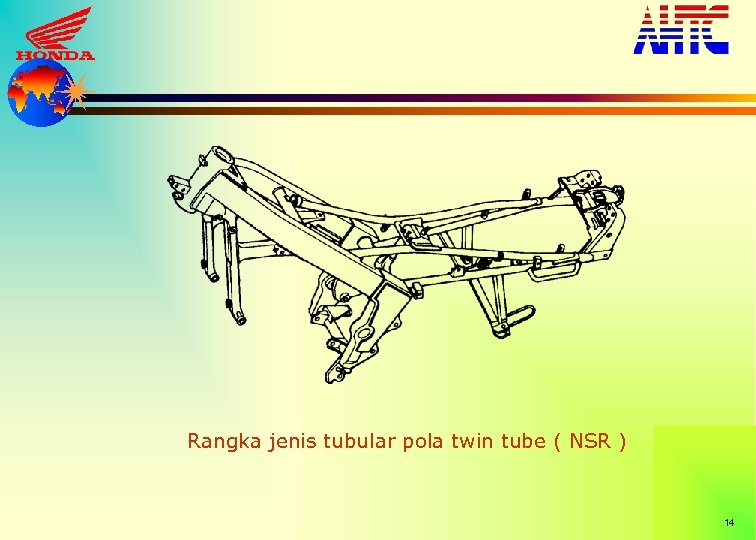 Rangka jenis tubular pola twin tube ( NSR ) 14