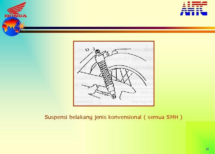 Suspensi belakang jenis konvensional ( semua SMH ) 22