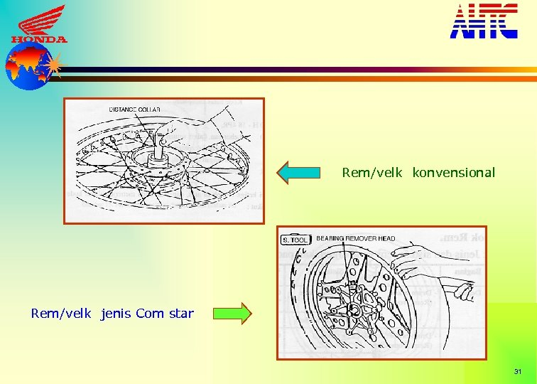 Rem/velk konvensional Rem/velk jenis Com star 31