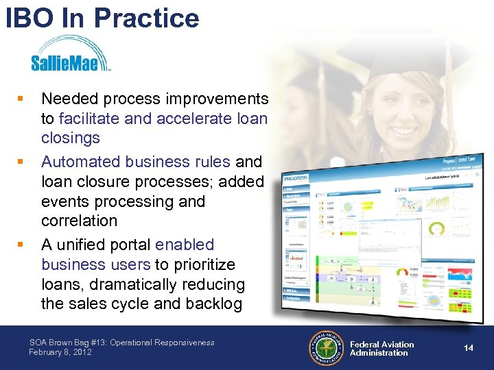 IBO In Practice § § § Needed process improvements to facilitate and accelerate loan