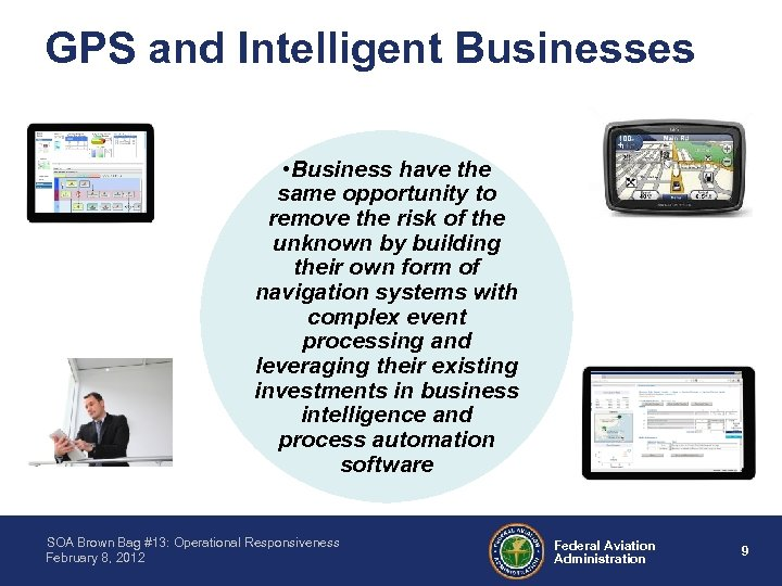GPS and Intelligent Businesses • Business have the same opportunity to remove the risk