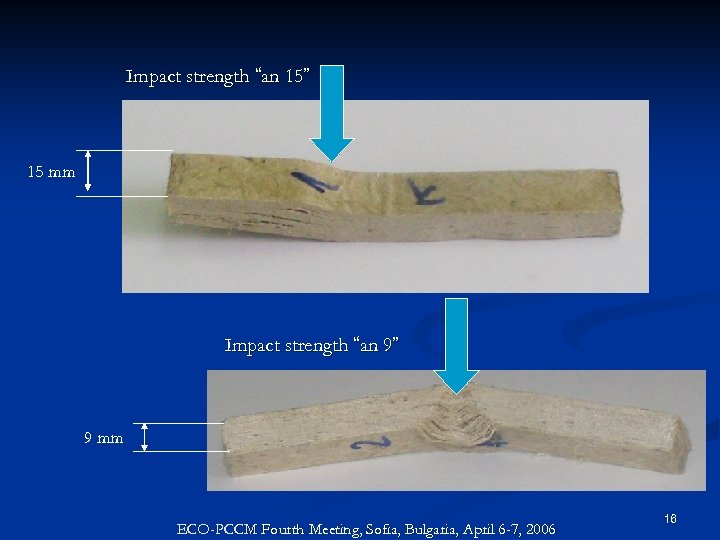 """Impact strength """"an 15"""" 15 mm Impact strength """"an 9"""" 9 mm ECO-PCCM Fourth"""