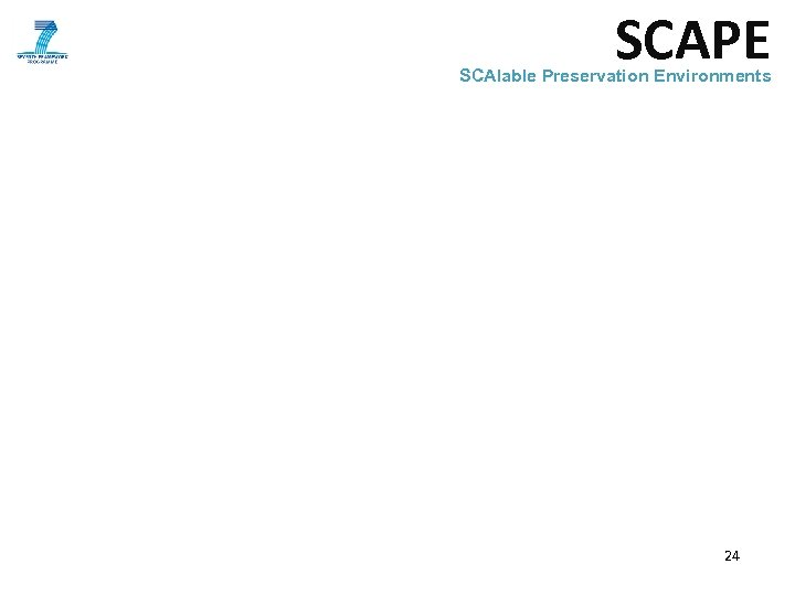 SCAPE SCAlable Preservation Environments 24
