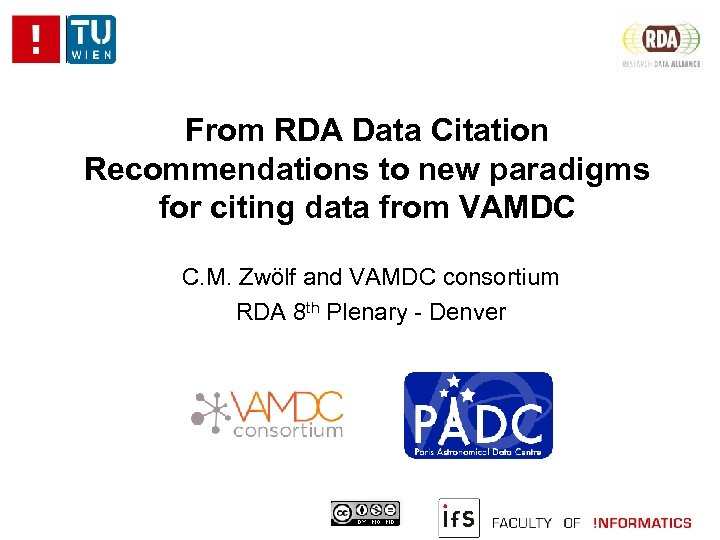 From RDA Data Citation Recommendations to new paradigms for citing data from VAMDC C.