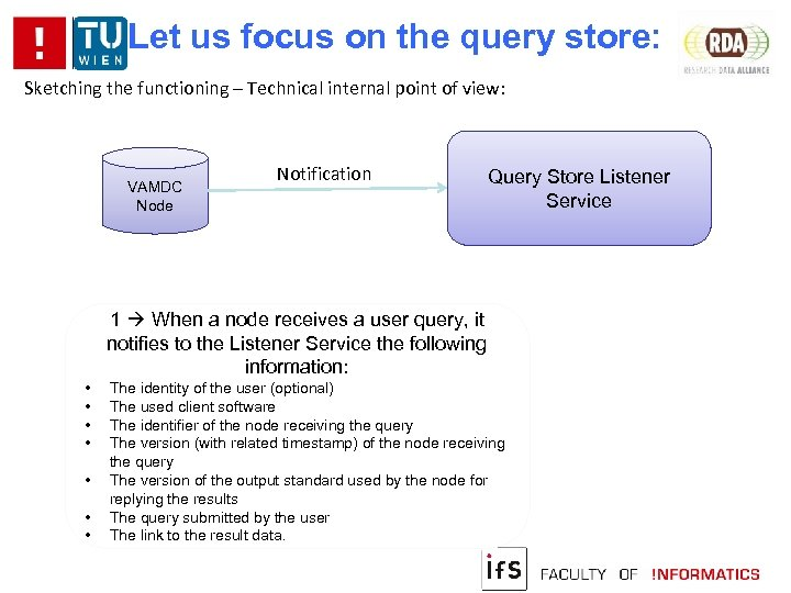 Let us focus on the query store: Sketching the functioning – Technical internal point
