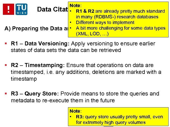 A) Note: Data Citation –& R 2 are already pretty much standard • R