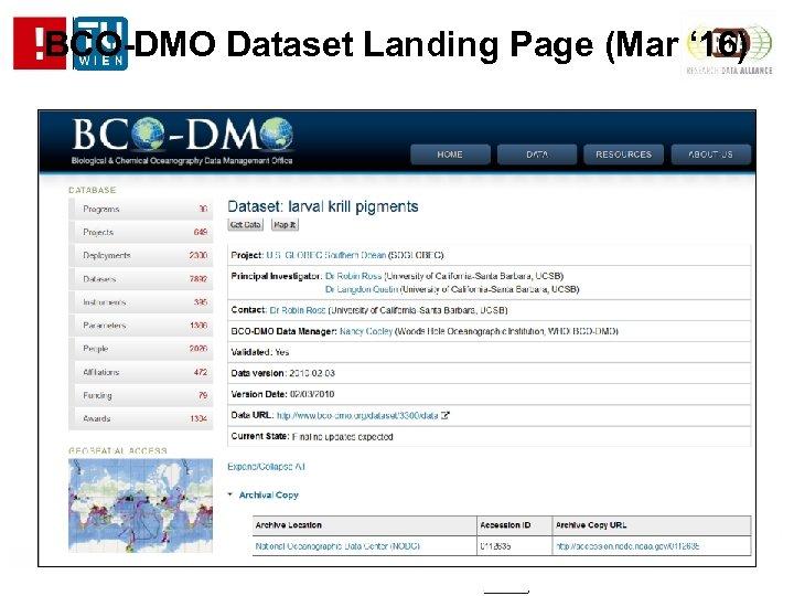 BCO-DMO Dataset Landing Page (Mar ' 16)