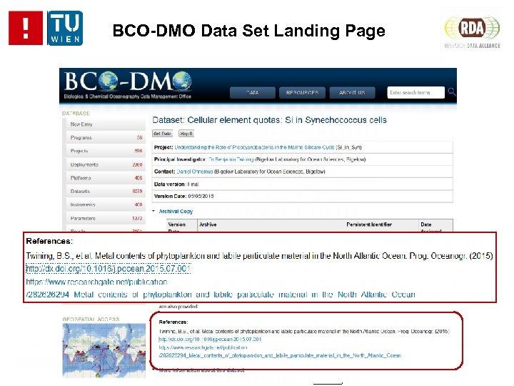 BCO-DMO Data Set Landing Page