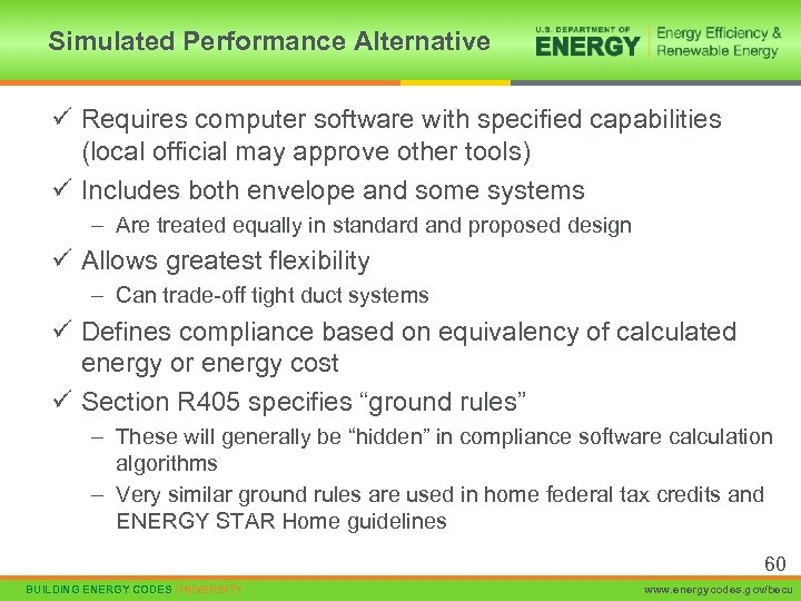 Simulated Performance Alternative ü Requires computer software with specified capabilities (local official may approve