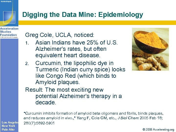 Digging the Data Mine: Epidemiology Greg Cole, UCLA, noticed: 1. Asian Indians have 25%