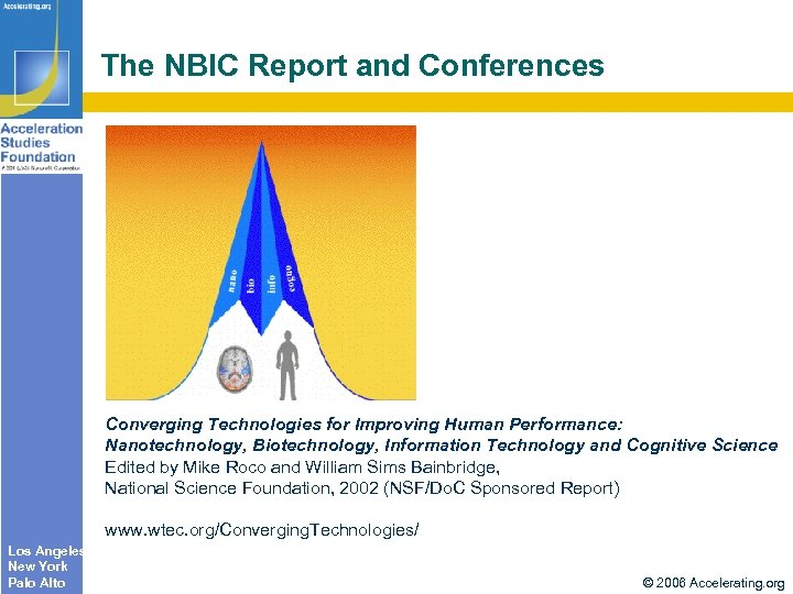 The NBIC Report and Conferences Converging Technologies for Improving Human Performance: Nanotechnology, Biotechnology, Information