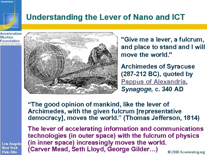 Understanding the Lever of Nano and ICT
