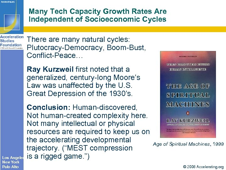 Many Tech Capacity Growth Rates Are Independent of Socioeconomic Cycles There are many natural