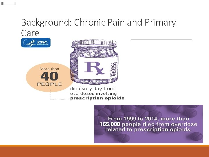 Background: Chronic Pain and Primary Care