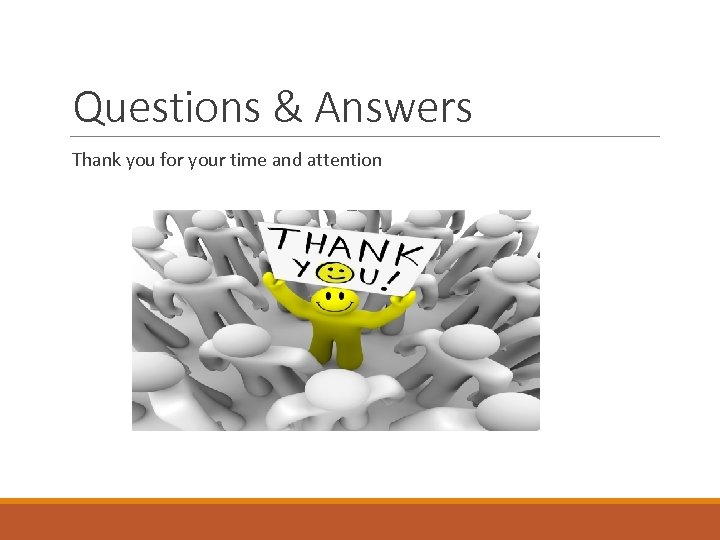 Questions & Answers Thank you for your time and attention