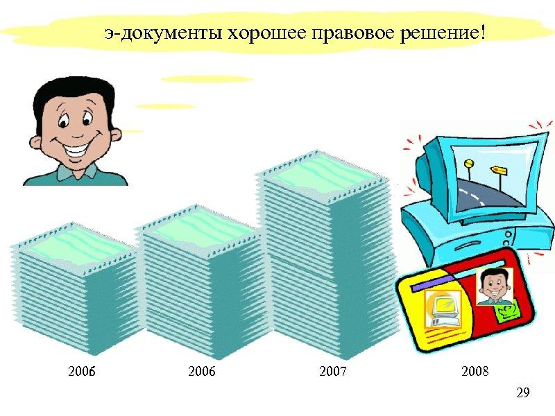 э-документы хорошее правовое решение! 2005 2006 2007 2008 29